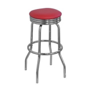 Retro Bar Stool Colour: Red