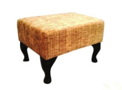Queen Anne Footstool in Ravello Soft Gold