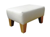 White Leather Footstool