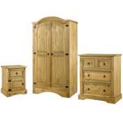 LPD Furniture Corona Trio, In Pine