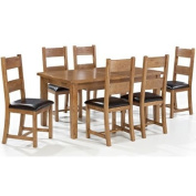 LPD Furniture Dorset Extending 6 Seater Dining Set, Oak