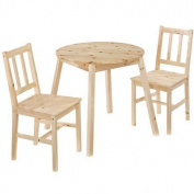LPD Furniture Prague 2 Seater Dining Set, In Pine