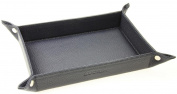 Lucrin - Small Multi-Purpose Tray - 110 x 70mm - Smooth Cow Leather - Dark Taupe