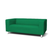 Sofa Cover for Ikea Klippan 2 Seater Sofa in Green with hook and loop Secure Fitting