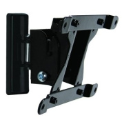 B-Tech BT7524 Flat Screen Wall Mount with Tilt & Swivel in Piano Black