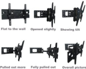Intecbrackets® - Extra strong 80kg rating cantilever TV bracket with full tilt and swivel fits TVs 37 39 40 42 43 44 46 47 50 52 55 57 58 60 63 64 (and LED TVs to 180cm. with a lifetime warranty and all the fittings and ..