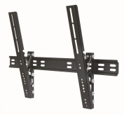 "Duronic TVB201L Ultra Slimline Ultra Strong Adjustable Black LED LCD TV Tilt Tilting Wall Mount Bracket 40""-170cm - MAX VESA 600 X 400"