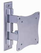 Intecbrackets®. all DVD / TV combi 17 19 20 22 23 24 silver TV wall bracket with swivel and tilt - lifetime waranty