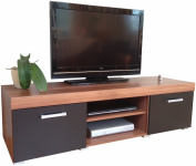 Black & Walnut Sydney Large 2 Door TV Cabinet 140cm Unit