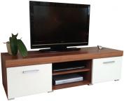 White & Walnut Sydney Large 2 Door TV Cabinet 140cm Unit