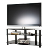 Alphason Black Glass TV Stand for up to 130cm TVs