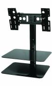 """AVF ESL422B LCD TV Wall Bracket & Glass AV Shelves 25""""-100cm"""