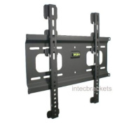 Intecbrackets® - 20mm flat slim to the wall fitting TV bracket fits TVs 37 40 42 43 46 47 50 51 52 55 weight rated to 75 kgs complete with all fittings and a lifetime warranty