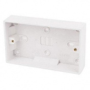 Mercury 47mm 2 Gang Surface Mounted Back Box
