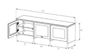 Sonorous LB1621 High Gloss Television Cabinet for TV's Up to 180cm