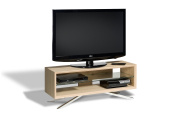 Techlink Arena AA110L TV Stand Suitable for Screens up to 130cm - Pale Oak
