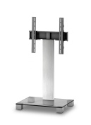 Sonorous PL 2511 Glass Inox Aluminium Stand for TV of Sizes Up to 130cm - Clear