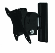 B-Tech BT7518 Flat Screen Wall Mount with Tilt & Swivel in Piano Black