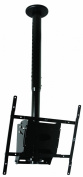 B-Tech BT8426 Flat Screen Ceiling Mount with Adjustable Drop (VESA 400) in Black