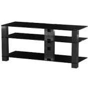 Sonorous PL3400 Black Glass and Smoked Aluminium Stand for TV Sizes upto 110cm
