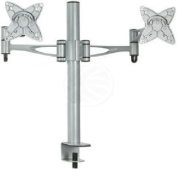 Cablematic - Table stand for 2 screens horizontally VESA 75/100