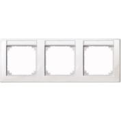 Merten 471319 M-SMART-frame, 3-gang with labelling bracket, horizontal installation, polar white glossy