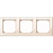 Merten 471344 M-SMART-frame, 3-gang with labelling bracket, horizontal installation, white glossy