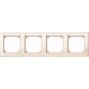 Merten 471444 M-SMART-frame, 4-gang with labelling bracket, horizontal installation, white glossy