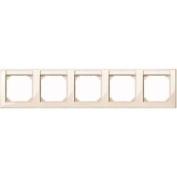 Merten 471544 M-SMART-frame, 5-gang with labelling bracket, horizontal installation, white glossy