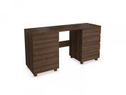 Jitona Jazz 1-Door 5-Drawer Dressing Table, Walnut