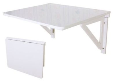 Wall mounted drop leaf table folding dining table desk for Table cuisine murale rabattable