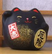 Maneki Neko Feng Shui Lucky black cat for protection