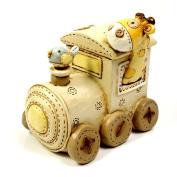 Baby Noah's Ark Resin Train Money Box