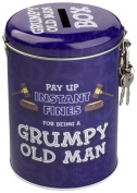 Boxer Gifts Grumpy Old Man Instant Fines Pay-Up Money Tins with Padlock