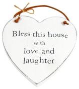 Heartwarmers Wooden Heart Keepsake Gift Sign/ Plaque, Bless This House