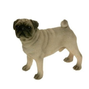 Standing Pug Dog Ornament - Collectable Dogs Sculpture By Leonardo