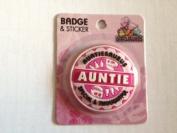 Auntie - Dinosaurus Personalised Name Badge