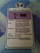 Edward Monkton The Lady And The Chocolate Magnetic Bookmark