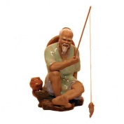 Seated Smiling Fisherman - Chinese Figurine