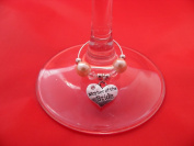 Individual 'Mother of the Bride' Wine Glass Charm by libbysmarketplace