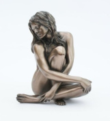Bronze Nude Female Sculpture Entitled Recollection - Peaceful Study Of A Naked Woman