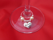 Individual 'Bridesmaid' Wine Glass Charm by libbysmarketplace