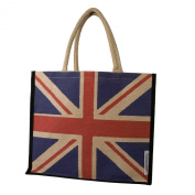 High Quality Union Jack Shopping Bag, Bag For Life, Eco Bag, School Bag or Gift Bag in Jute from a British Company
