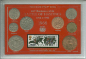 900th Anniversary of The Battle of Hastings 1066 - 1966 William The Conqueror Coin & Stamp Present Display Gift Set
