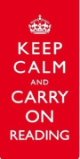 Keep Calm and Carry On Reading Magnetic Bookmark