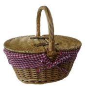 Childs Wicker Oval Picnic Basket - lined