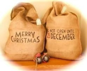 East Of India Hessian Vintage Style 'Merry Christmas' Santa Sack