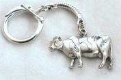 Freesian Cow Key-ring, Keychain in Fine English Pewter, Handmade