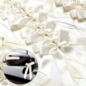 25 Wedding Pew End Bows Ribbon Decoration Chairs Cars Gift Wrap