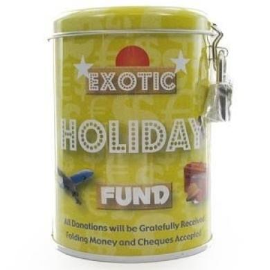 Exotic Holiday Fund Savings Tin